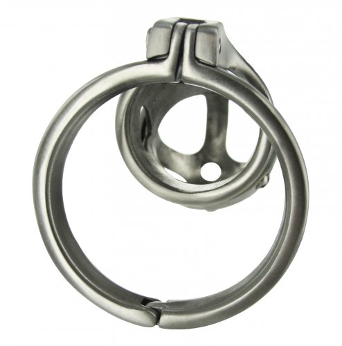 Extreme Steel Male Chastity Cage Back View