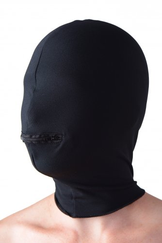 Hood With Zippered Mouth Hole With Side View