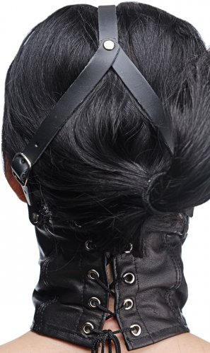 Corset Neck Harness with Stuffer Gag Back View