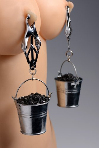 Nipple Clamps with Buckets With Model