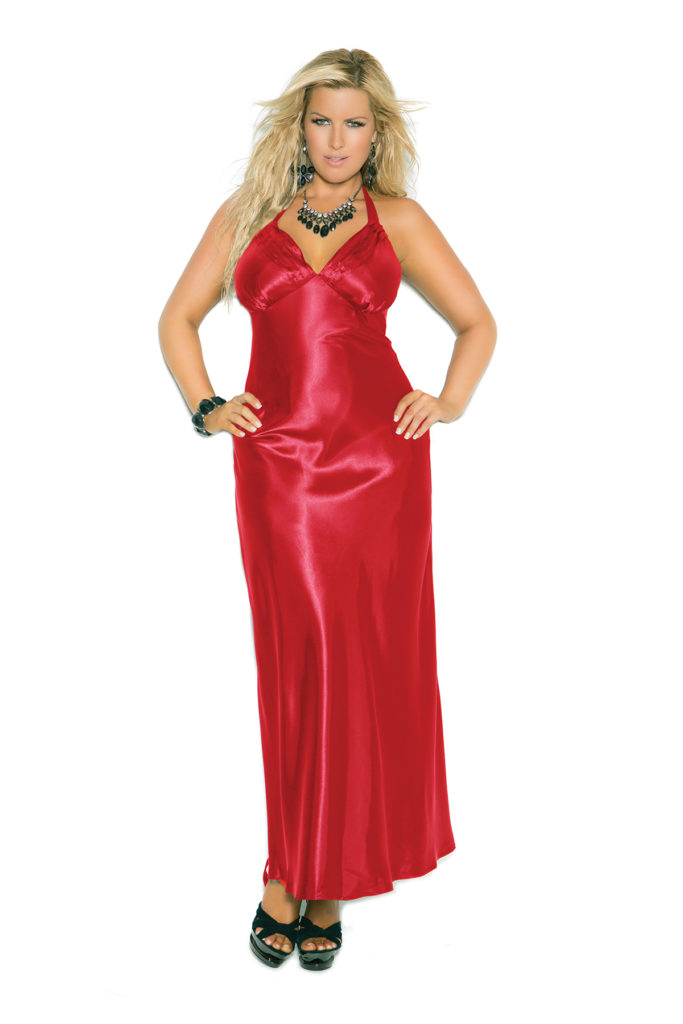 Sexy Satin Gown X Red