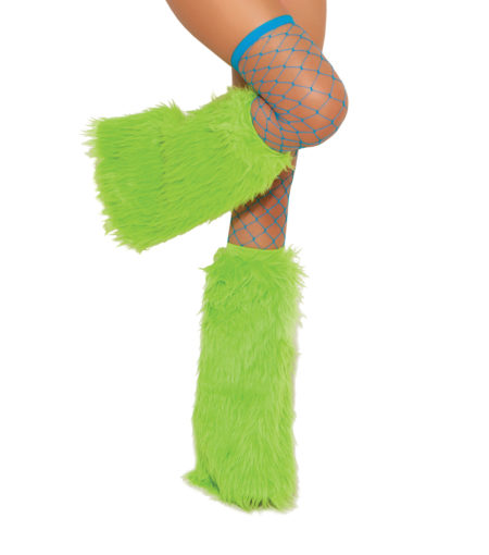 Furry Boot Covers neongreen