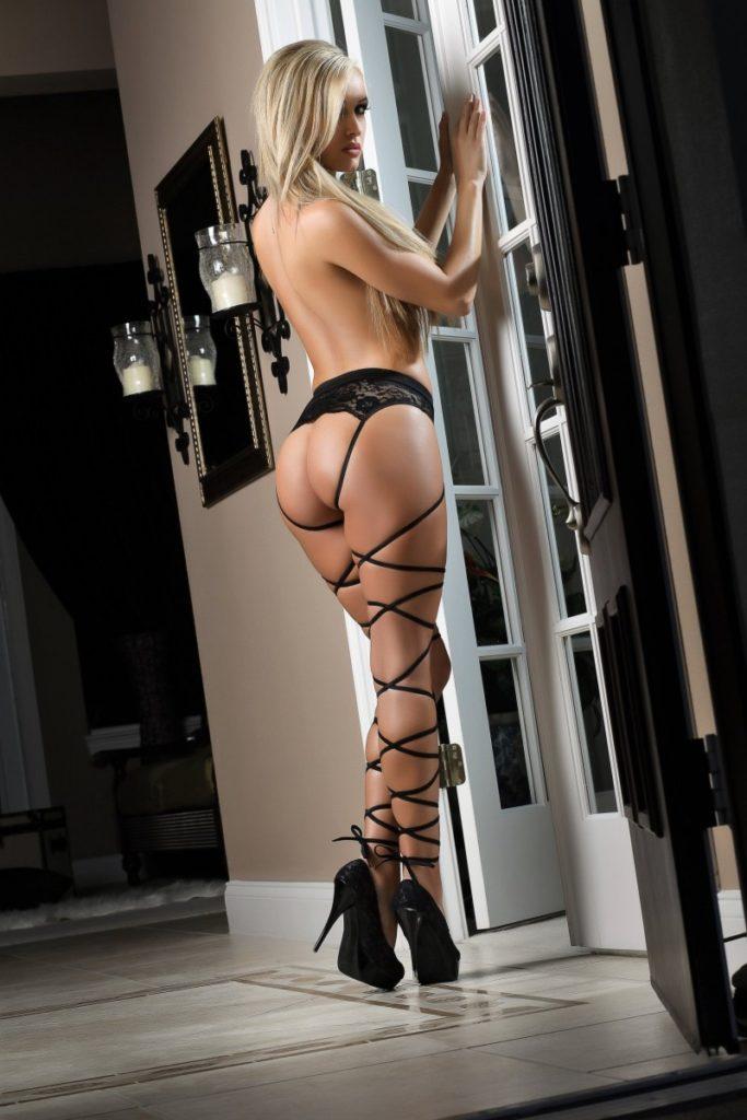 Most Basic Instinct Panty & Stockings Black Back