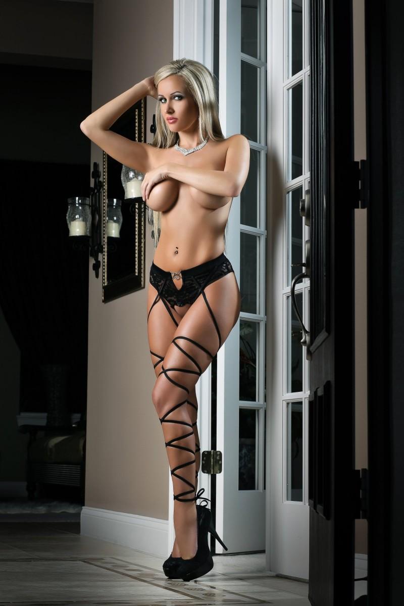 Most Basic Instinct Panty & Stockings Black