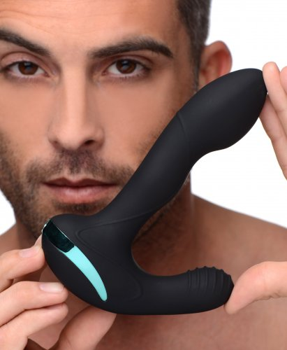 Rotating Vibrating Silicone Prostate Stimulator With Model