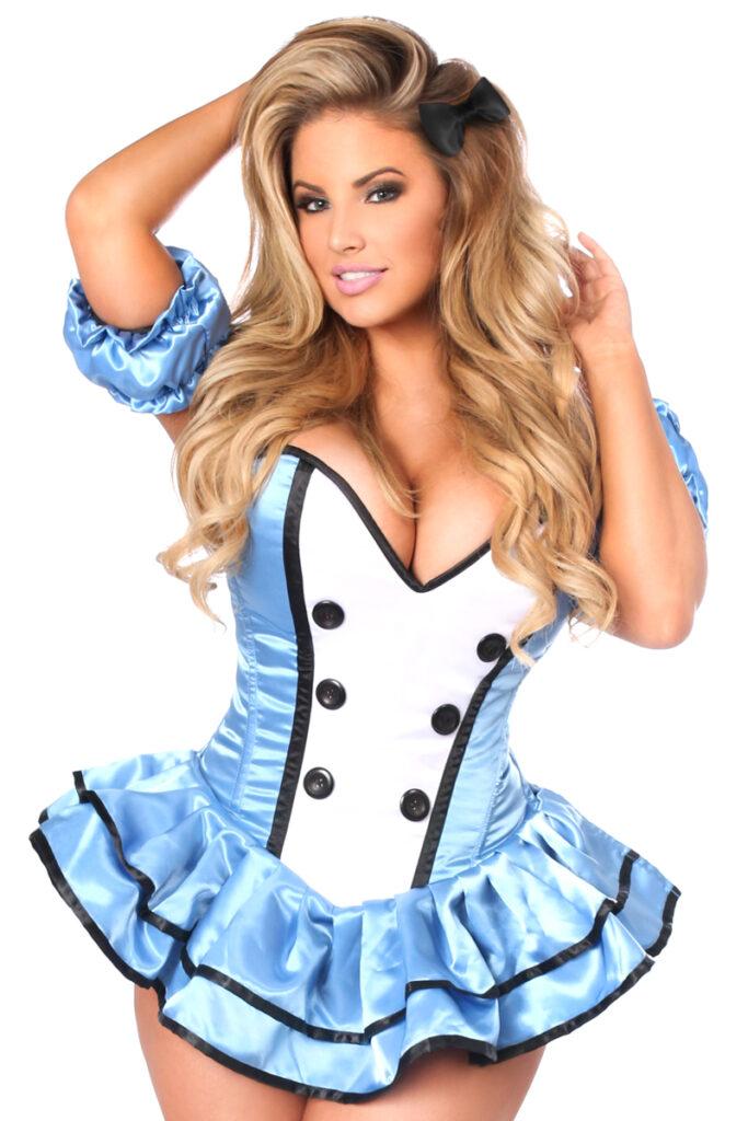 Alice Premium Corset Dress Costume Close Up
