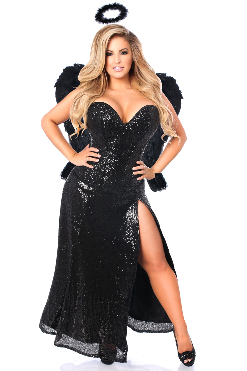 Dark Angel Premium Corset Costume