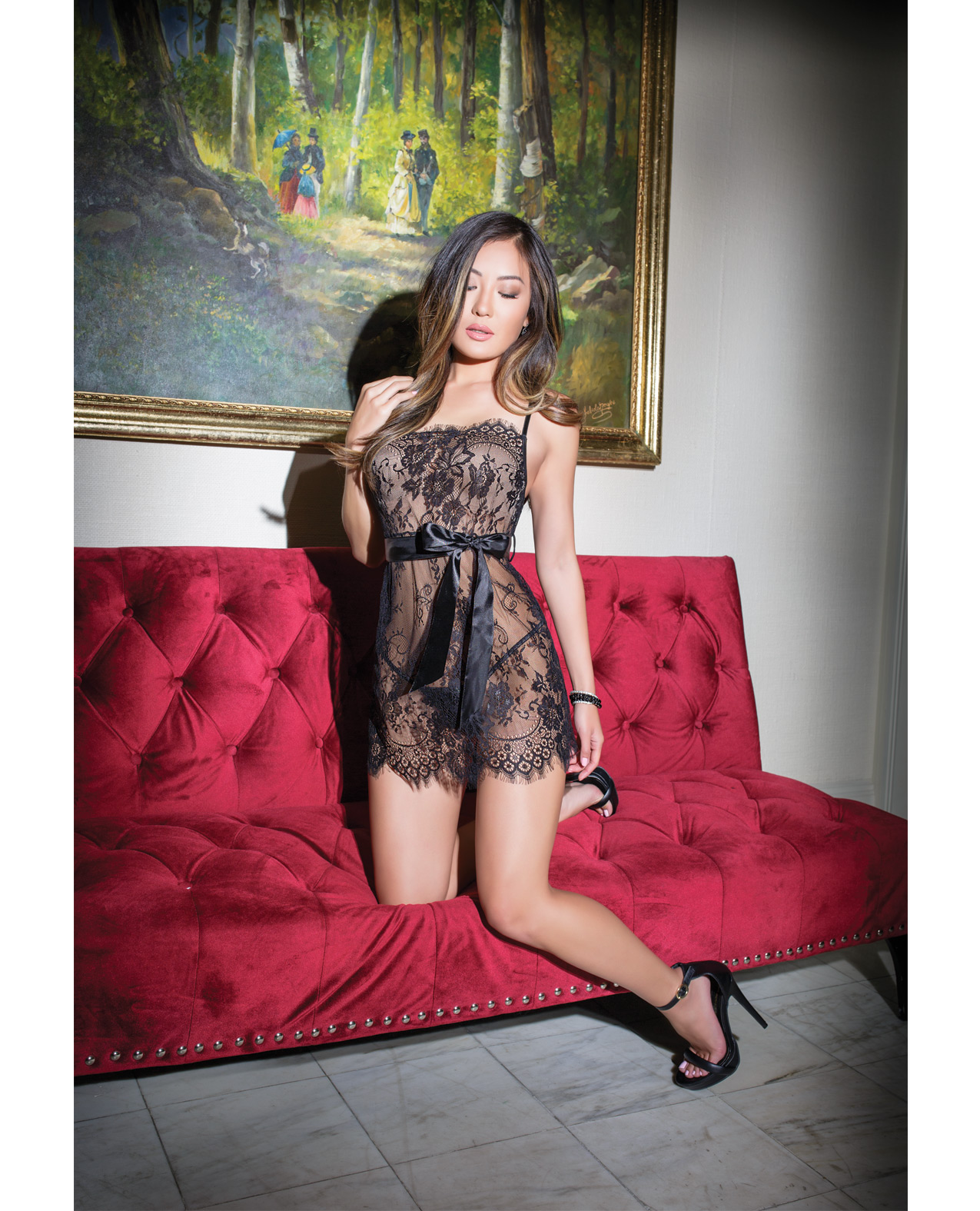 Eyelash Lace Mini Babydoll
