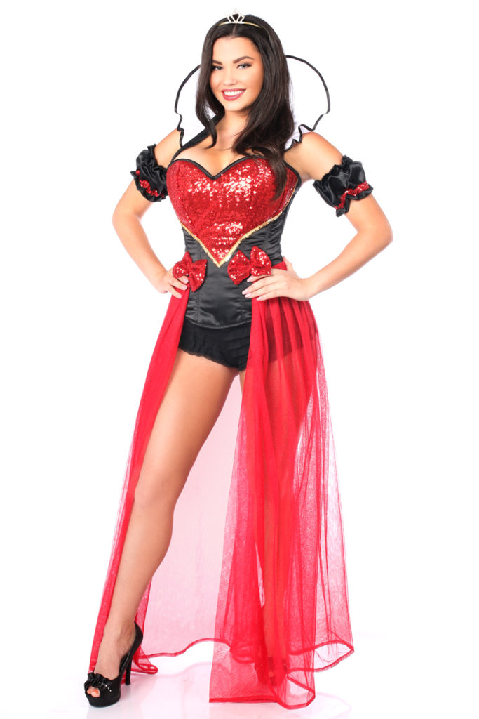 Fairytale Red Queen Premium Corset Costume