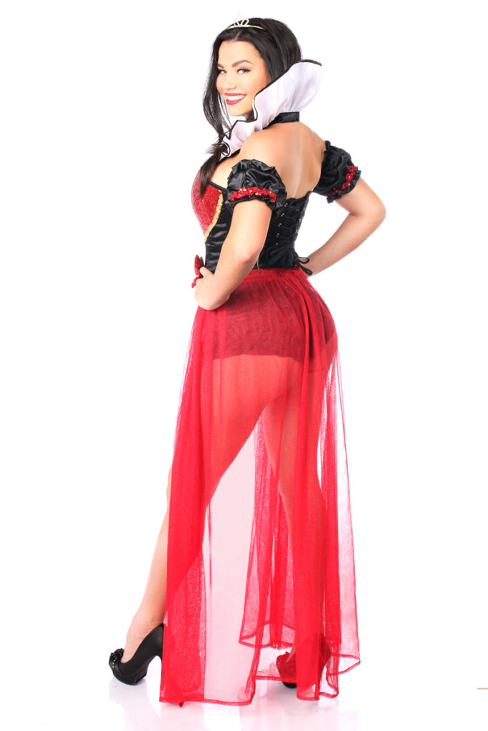 Fairytale Red Queen Premium Corset Costume Back