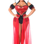 Fairytale Red Queen Premium Corset Costume X