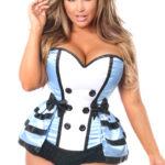 Flirty Alice Premium Corset Costume Close Up