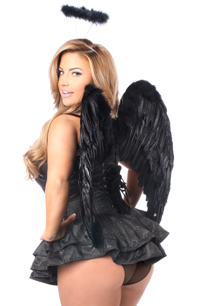 Glitter Dark Angel Premium Corset Dress Costume Back