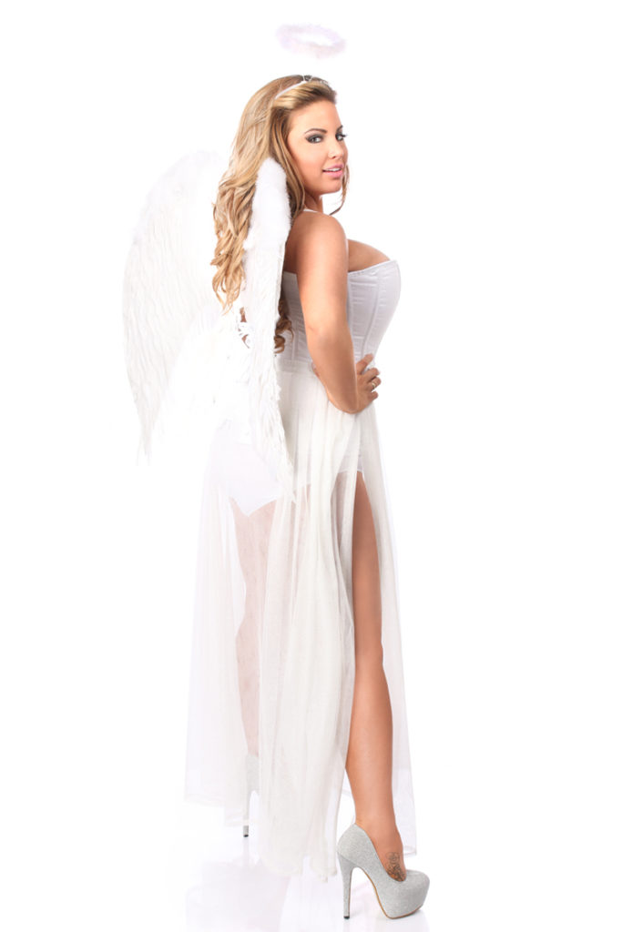 Glitter Fantasy Angel Corset Costume Back