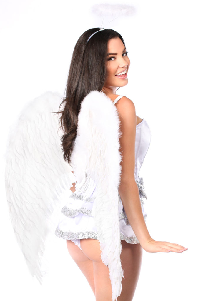 Innocent Angel Premium Corset Costume Close Up Back