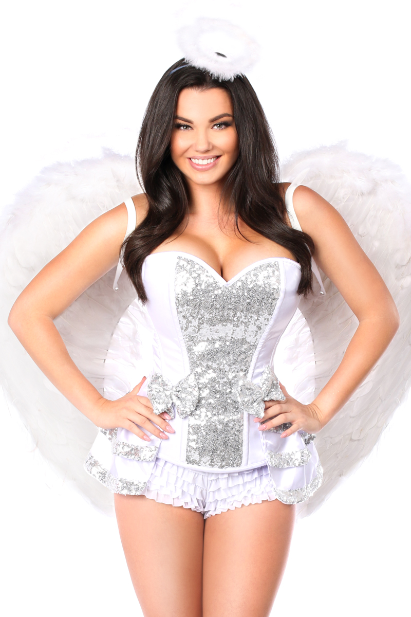 Innocent Angel Premium Corset Costume Close Up
