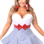 Kansas Girl Premium Corset Dress Close Up