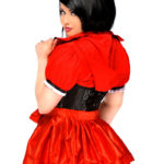 Lil Red Riding Hood Premium Corset Costume Close Up Back