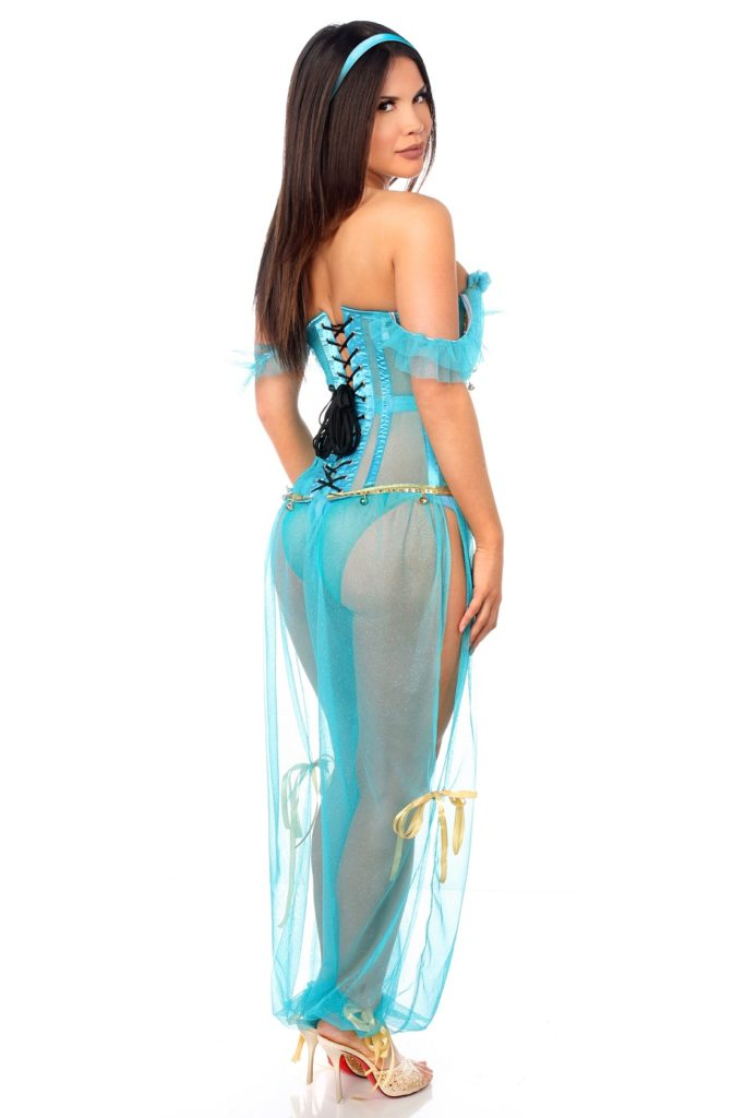 Persian Princess Premium Corset Costume Back