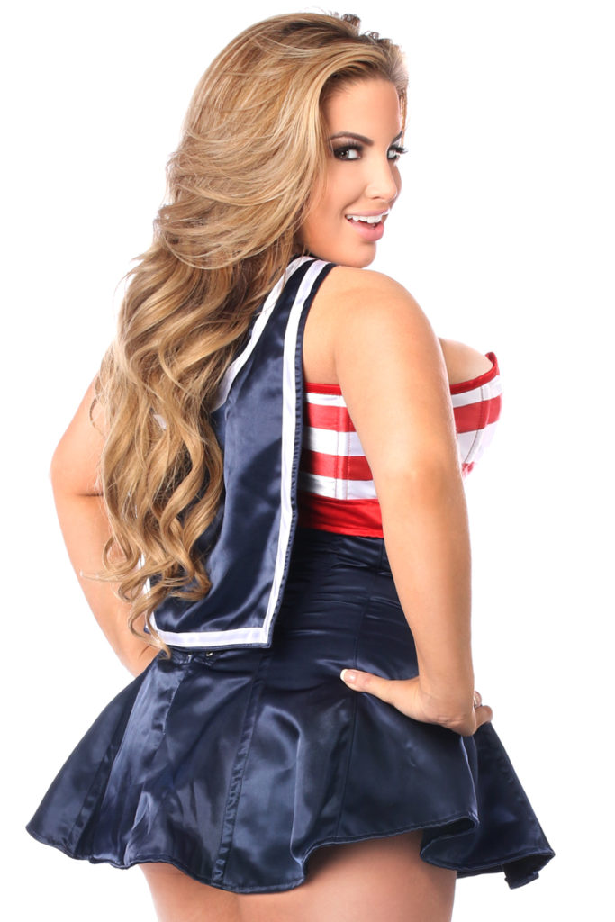 Pin-Up Sailor Premium Corset Dress Costume Back