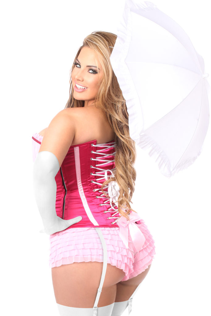 Pink Princess Premium Corset Costume Close Up Back