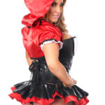 Red Riding Hood Corset Dress Costume Close Up Back
