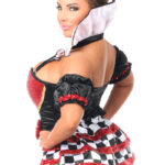 Royal Red Queen Premium Corset Costume Back