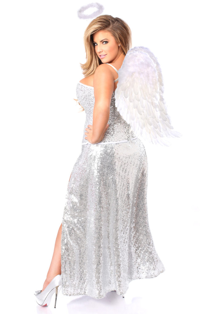 Sequin Angel Corset Costume Back