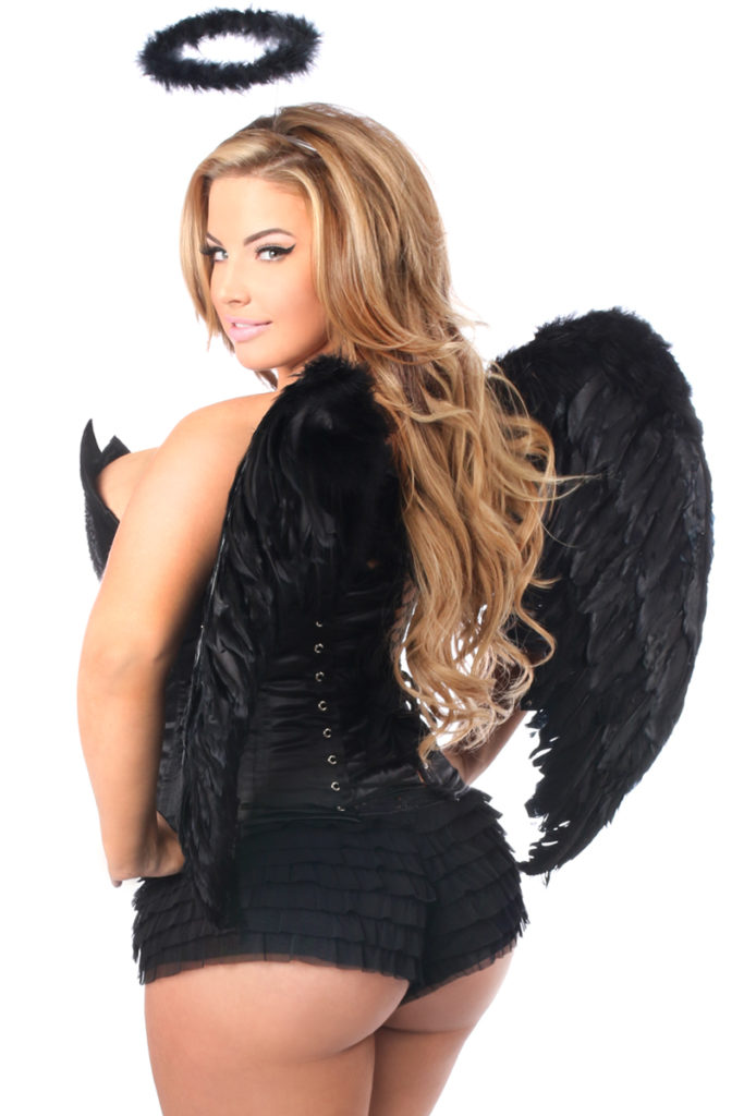 Sequin Dark Angel Premium Corset Costume Close Up Back