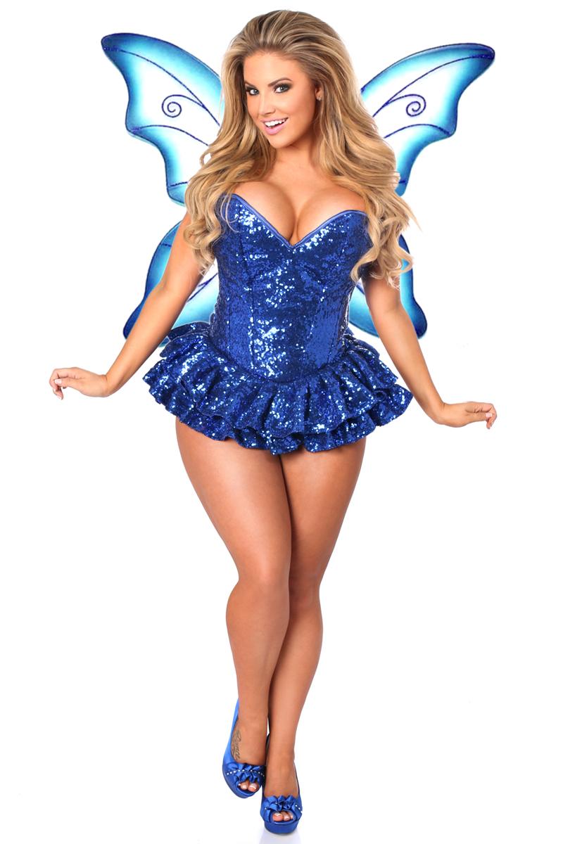 Sequin Fairy Premium Corset Costume Blue