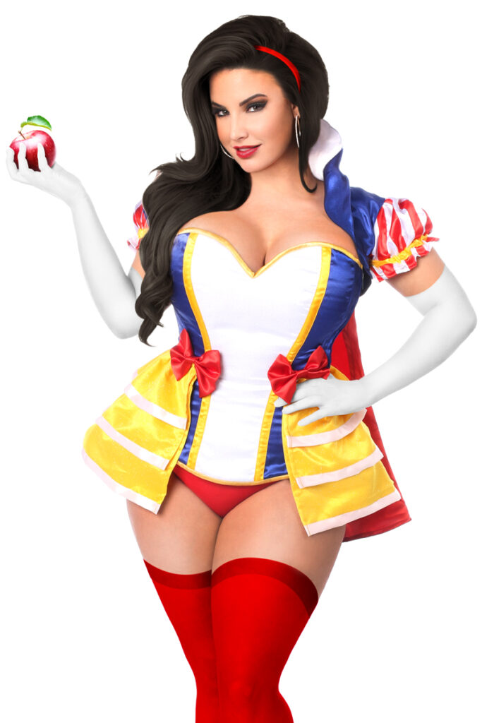Snow Princess Corset Costume Close Up