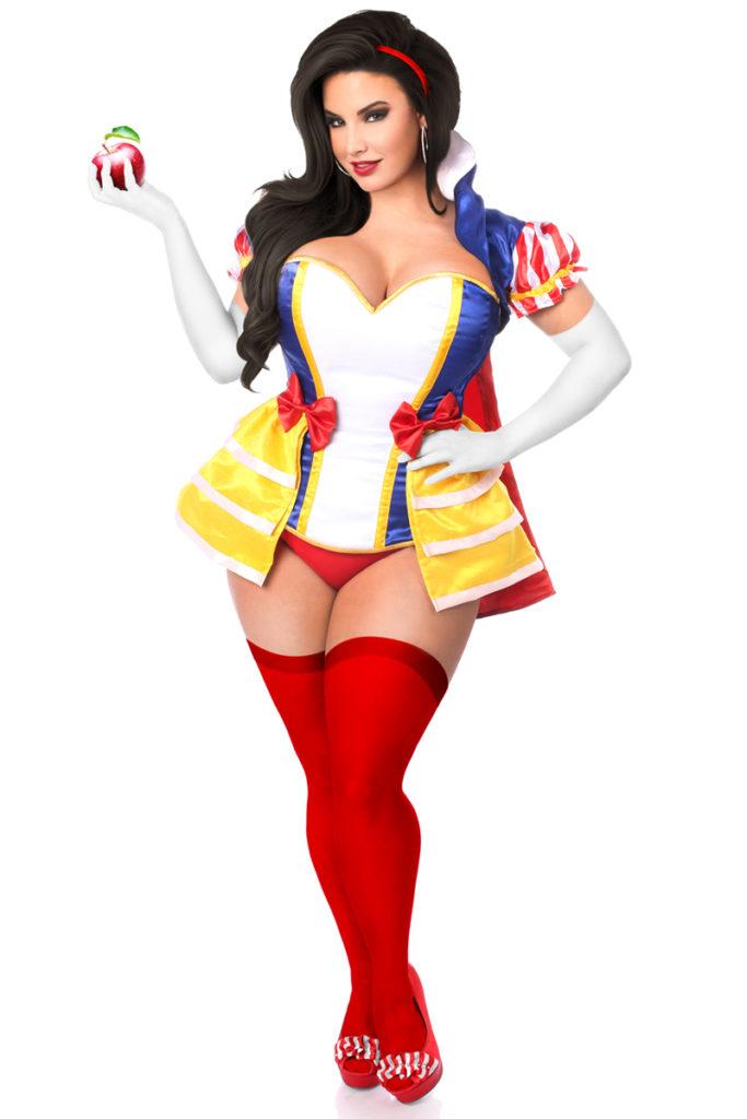 Snow Princess Corset Costume Skirt