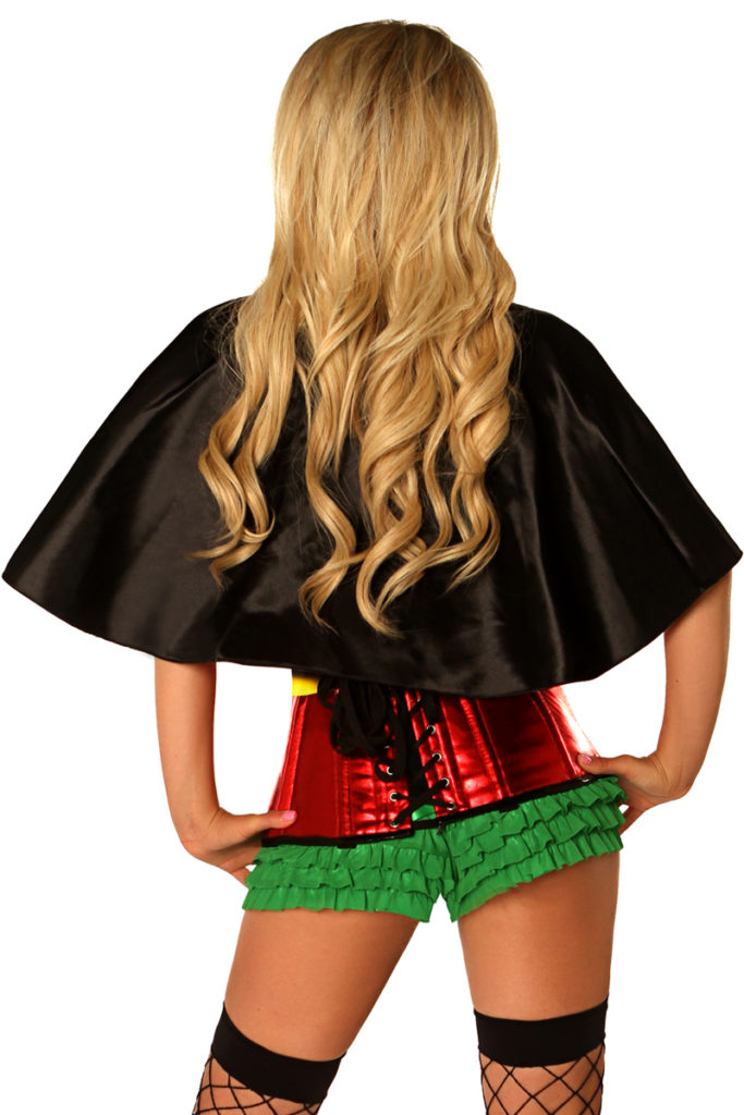 Superhero Sidekick Premium Corset Costume Back