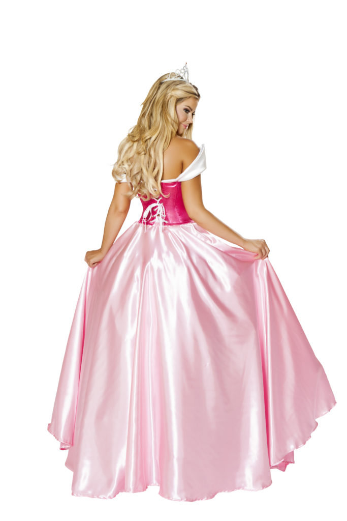 Enchanting Sleeping Princess Gown Back