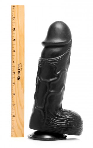 "Giant Black 10.5"" Dong Measured"