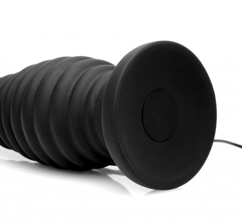 Thrusting Vibrating Silicone Anal Plug Bottom View