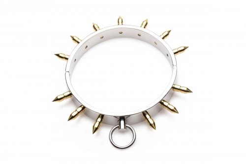 Spiked Locking Slave Collar Top