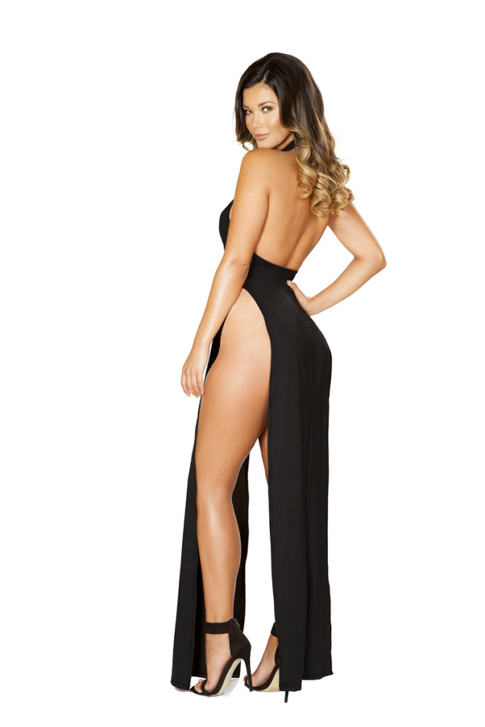 Passions Expressed Maxi Halter Dress Back