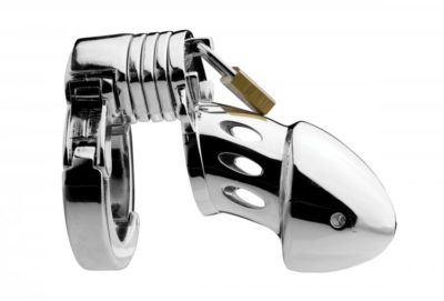 Adjustable Locking Chastity Cage Side View