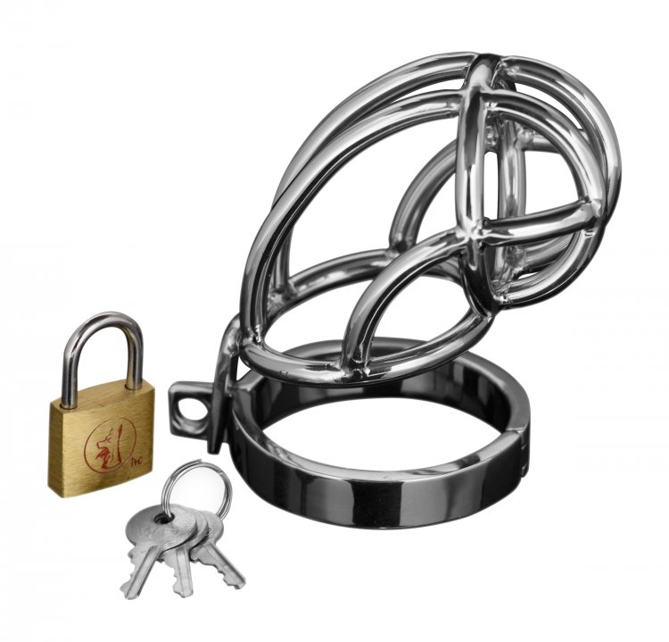 Stainless Steel Locking Chastity Cage