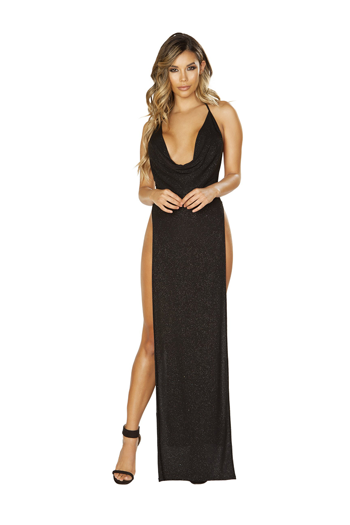 Shimmering Seduction Maxi Dress